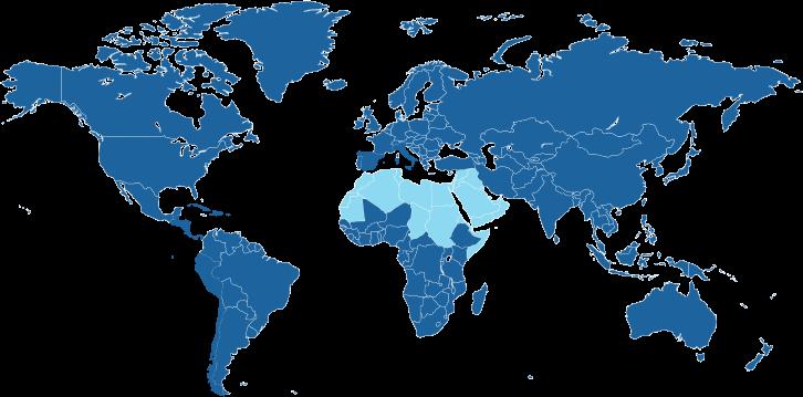 Landen waar de Arabische taal de officiële taal is.