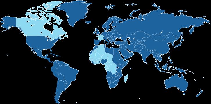 Landen waar de Franse taal een officiële taal is.