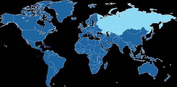 Landen waar de Russische taal een officiële taal is.