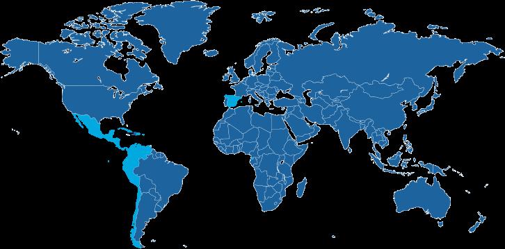 Landen waar de Spaanse taal een officiële taal is.