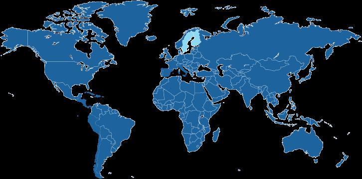 Landen waar de Zweedse taal een officiële taal is.